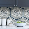 Picture of Navy Harmony Peel and Stick Wallpaper