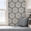 Picture of Charcoal Harmony Peel and Stick Wallpaper