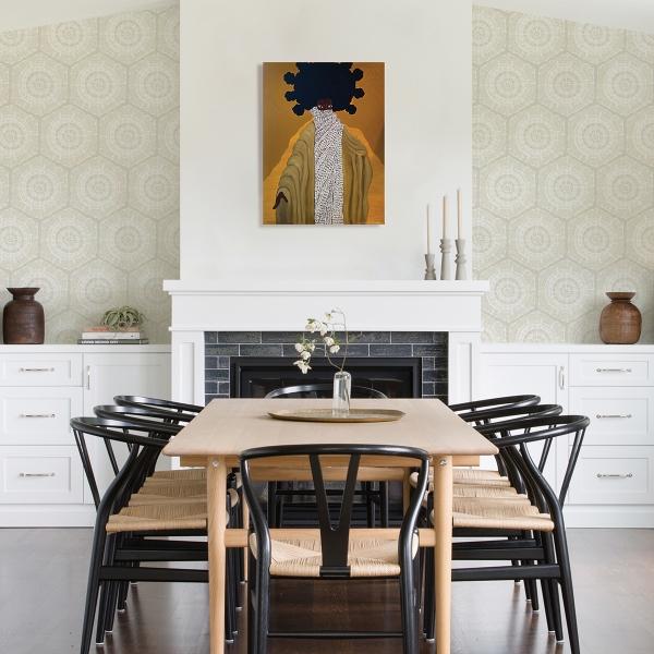 Picture of Cream Harmony Peel and Stick Wallpaper