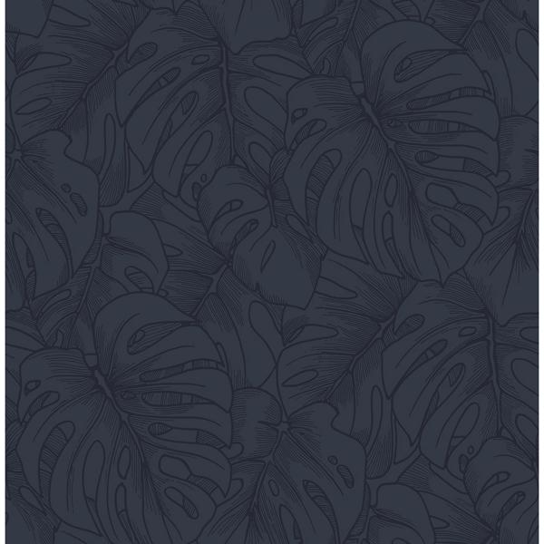 Picture of Indigo Borneo Peel and Stick Wallpaper