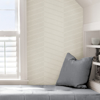 Picture of White Wayward Peel and Stick Wallpaper