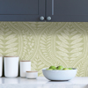 Picture of Green Foliate Peel and Stick Wallpaper
