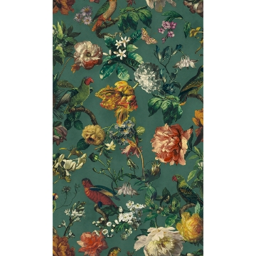 Picture of Claude Teal Floral Wallpaper