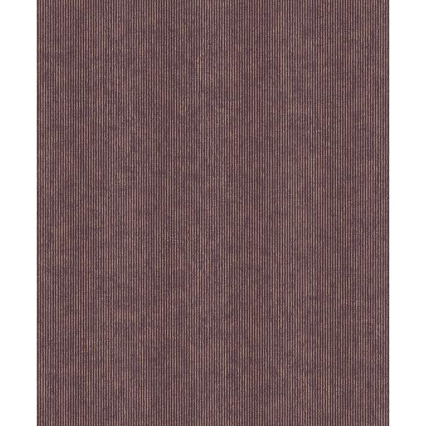 Picture of Leonardo Mauve Flock Stripe Wallpaper