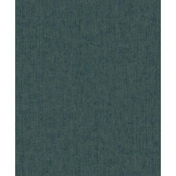 Picture of Leonardo Teal Flock Stripe Wallpaper