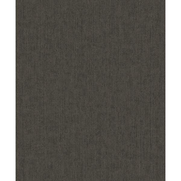 Picture of Leonardo Charcoal Flock Stripe Wallpaper