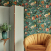 Picture of Diego Aqua Distressed Texture Wallpaper