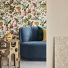 Picture of Auguste Gold Floral Wallpaper