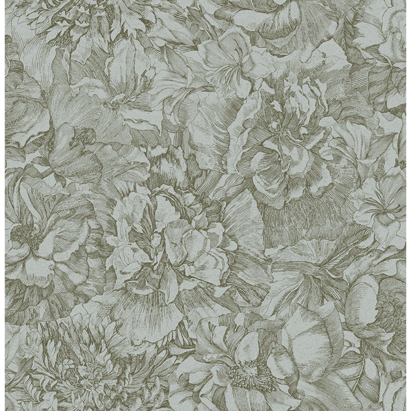 Picture of Auguste Sage Floral Wallpaper