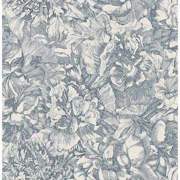 Picture of Auguste Navy Floral Wallpaper