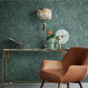 Picture of Auguste Dark Green Floral Wallpaper