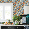 Picture of Navy Clementine Garden Peel and Stick Wallpaper
