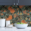 Picture of Teal Clementine Garden Peel and Stick Wallpaper