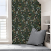 Picture of Chocolate Papillon Flutter Peel and Stick Wallpaper