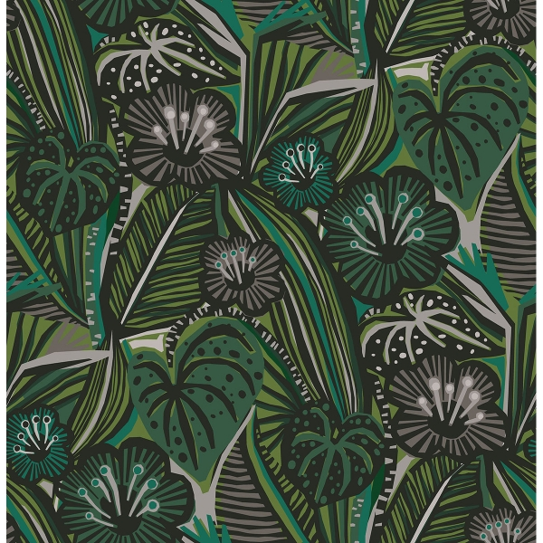 Picture of Greens Lotusland Peel and Stick Wallpaper