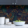 Picture of Navy Ethereal Cosmos Peel and Stick Wallpaper