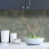 Picture of Teal Ethereal Cosmos Peel and Stick Wallpaper