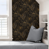Picture of Black Ethereal Cosmos Peel and Stick Wallpaper