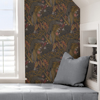Picture of Gold Cranberry Poise Peel and Stick Wallpaper