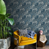 Picture of Blue Poise Peel and Stick Wallpaper