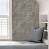 Picture of Grey Mint Poise Peel and Stick Wallpaper