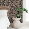 Picture of Plum Cat Nap Peel and Stick Wallpaper