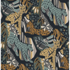 Picture of Navy Gold Cat Nap Peel and Stick Wallpaper