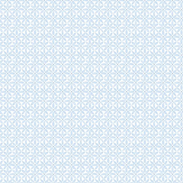 Picture of Jellia Blue Petal Geometric Wallpaper