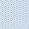 Picture of Hugson Blue Quilted Damask Wallpaper