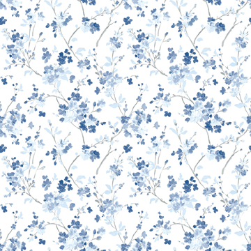 Picture of Glinda Navy Floral Trail Wallpaper