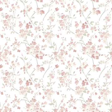 Picture of Glinda Rose Floral Trail Wallpaper