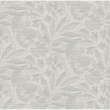 Picture of Lei Silver Etched Leaves Wallpaper