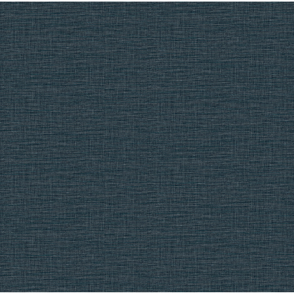 Picture of Lela Navy Faux Linen Wallpaper