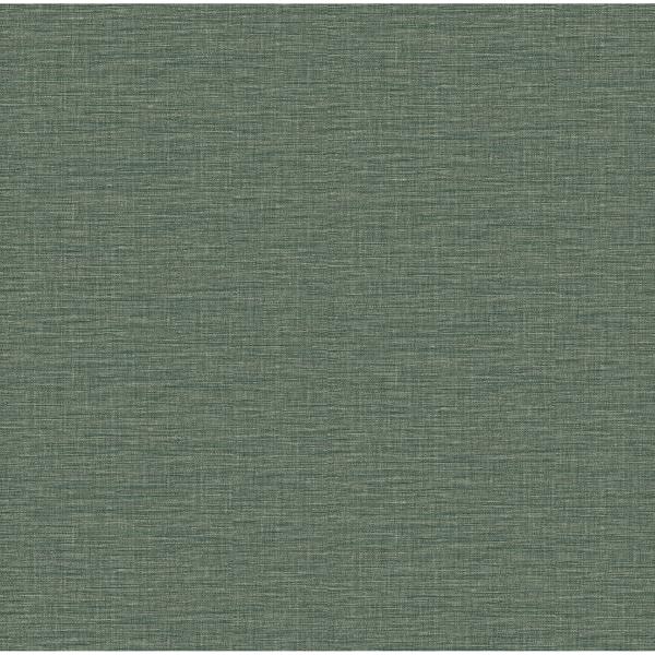 Picture of Lela Green Faux Linen Wallpaper