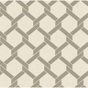 Picture of Payton Grey Hexagon Trellis Wallpaper