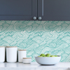 Picture of Teal Saybrook Peel and Stick Wallpaper