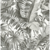 Picture of Black & White Maui Peel and Stick Wallpaper