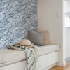 Picture of Navy Saybrook Peel and Stick Wallpaper