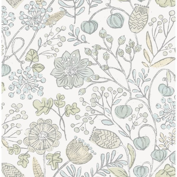 Picture of Blue and Green Southern Trail Peel and Stick Wallpaper